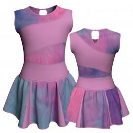 Vestito danza con gonnellino in lurex senza maniche e inserto SK302LXX108SST