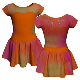 Vestito danza con gonnellino in lurex maniche aletta e inserto SK302LXX1001