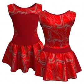 Vestito danza con gonnellino in lurex senza maniche e inserto SK302LXX1001SS