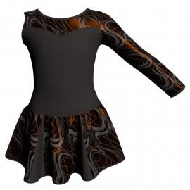Vestito danza con gonnellino in lurex Monospalla e inserto SK302LXX1019SST