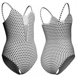 Body danza in lycra stampata bretelle con inserto PSB40W