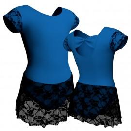 Body danza maniche aletta con inserto belen pro e gonnellino in pizzo SK1LBP210T
