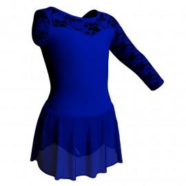 Body danza Monospalla con inserto belen pro e gonnellino in chiffon SK1LBC1019SST