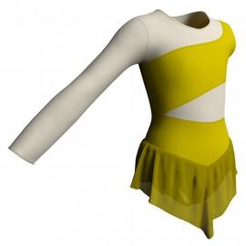 Body danza con gonnellino in chiffon monospalla e inserto SK714LCC108SS