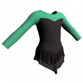 Body danza con gonnellino in chiffon maniche lunghe e inserto SK714LCC1019