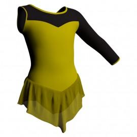 Body danza con gonnellino in chiffon monospalla e inserto SK714LCC1019SST