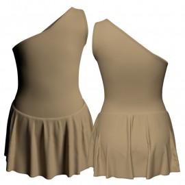Body danza con gonnellino monospalla SK1LCL1020