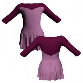 Body danza con gonnellino maniche 3/4 e inserto SK1LCL105