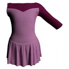 Body danza con gonnellino Monospalla e inserto SK1LCL105SST