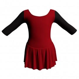 Body danza con gonnellino maniche 3/4 e inserto SK1LCL406T