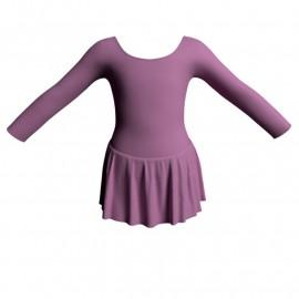 Body danza con gonnellino maniche lunghe SK1LCL405