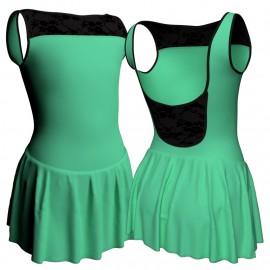 Body danza senza maniche con inserto belen pro e gonnellino SK1LBL1002