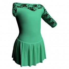 Body danza Monospalla con inserto belen pro e gonnellino SK1LBL105SST