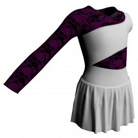 Body danza Monospalla con inserto belen pro e gonnellino SK1LBL108SS