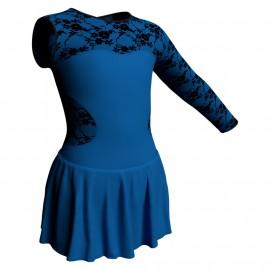Body danza Monospalla con inserto belen pro e gonnellino SK1LBL110SST