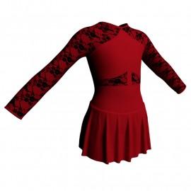 Body danza maniche lunghe con inserto belen pro e gonnellino SK1LBL113