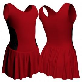 Body danza senza maniche con inserto belen pro e gonnellino SK1LBL415