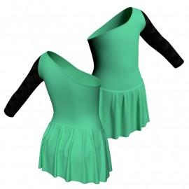 Body danza senza maniche con inserto belen pro e gonnellino SK1LBL999T