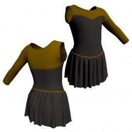 Body danza con gonnellino monospalla e inserto SK2LCL1019SST