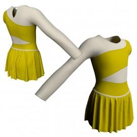 Body danza con gonnellino monospalla e inserto SK2LCL108SS