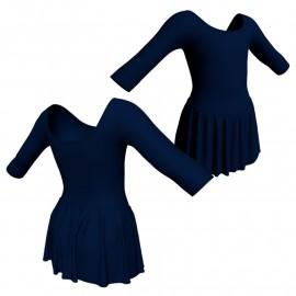 Body danza con gonnellino maniche 3/4 SK2LCL406