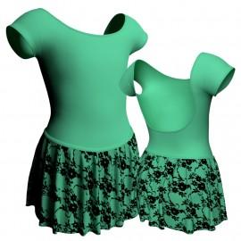 Body danza con gonnellino in belen pro maniche aletta SK2LCB414