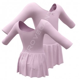 3/4 Sleeved Dance Leotard with Skirt B444