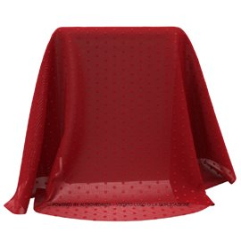 Tulle Polka | Colore TS426 - Rosso/Rosso