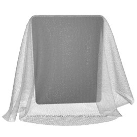 Tulle Puntinato Lammè | Colore TS431 - Bianco/Argento