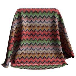 Lycra Geometric | Colore LM645 - Rosso/Arancio