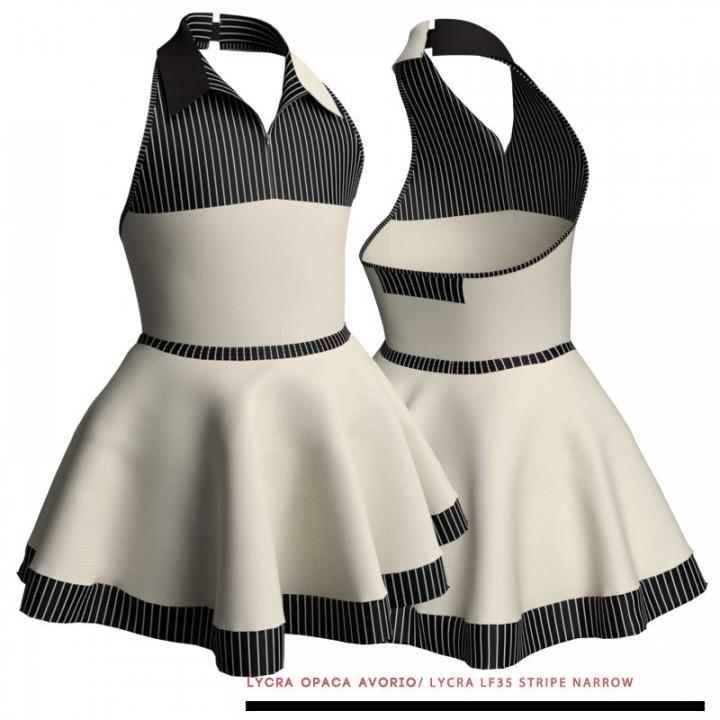Costume Danza 'Duo Stripe'   M130