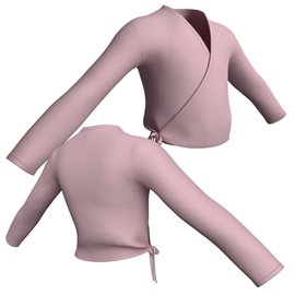 Child Long Sleeve Wrap Sweater G100