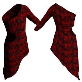 Vestito Modern in Pizzo Belen | 2105BLN Rosso