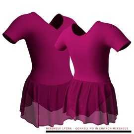 Pink Short Sleeves Leotard