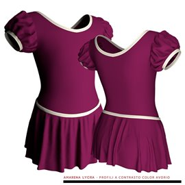 Puff Sleeve Skirted Leotard for Child
