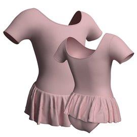 Body Danza con Gonnellino B440 - Lycra Rosa Pupa