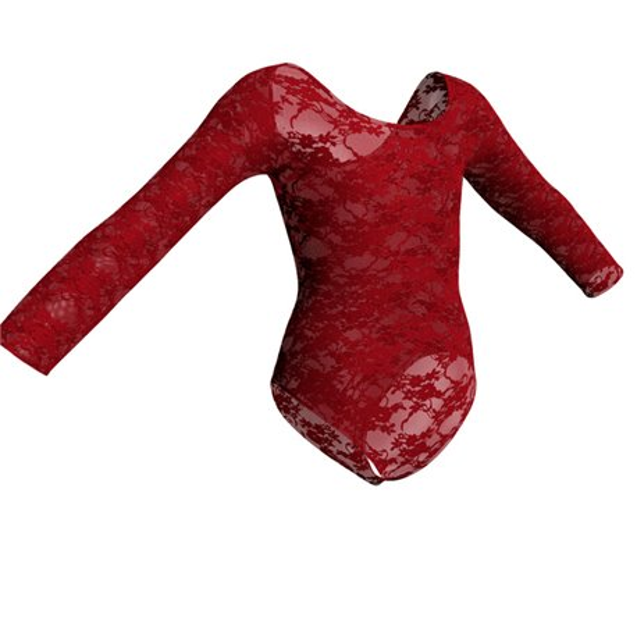 Long Sleeve Lace Ballet Leotard