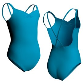 Double Straps Leotard Gathered Front