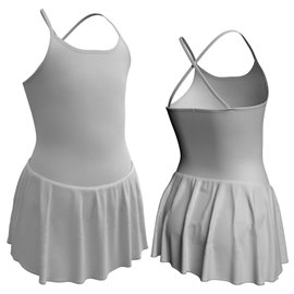 Skirted Camisole Leotard with Criss-cross Back