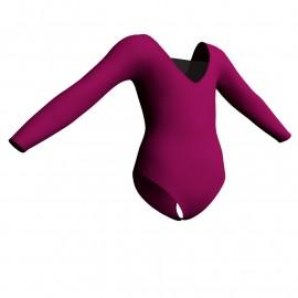 Body danza maniche lunghe con inserto in rete o pizzo PLP2532