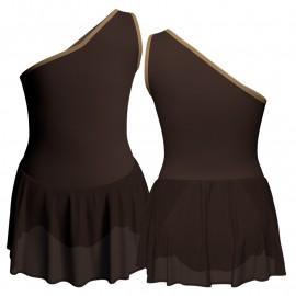 Body danza monospalla con gonnellino SK1LCC1020