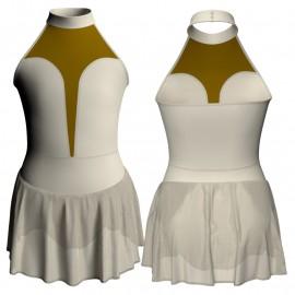 Body danza scollo americana con inserto e gonnellino SK1LCC118