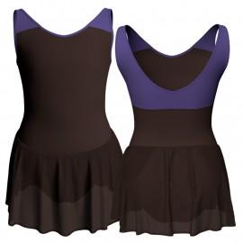 Body danza senza maniche con inserto e gonnellino SK1LCC220
