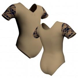 Body danza manica corta con inserto belen pro PLB1008T