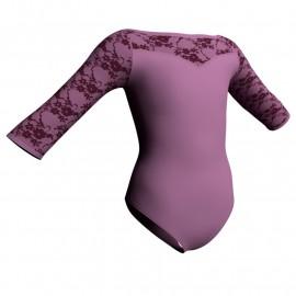 Body danza maniche 3/4 con inserto belen pro PLB105