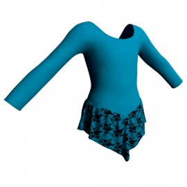 Body danza con gonnellino in belen pro maniche lunghe SK714LCB405